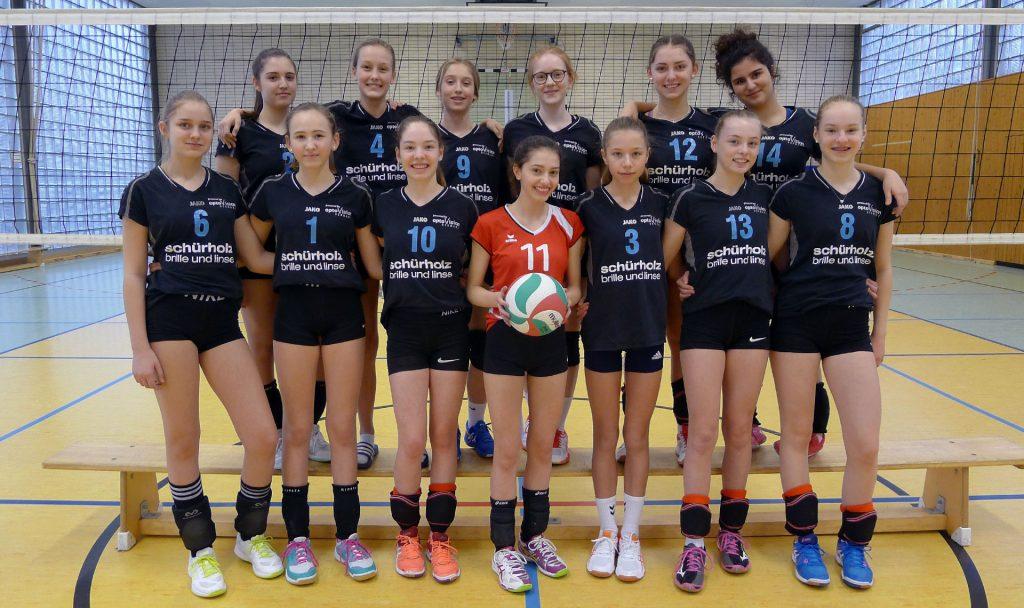Mannschaftsfoto der U16 weiblich Saison 2019/2020