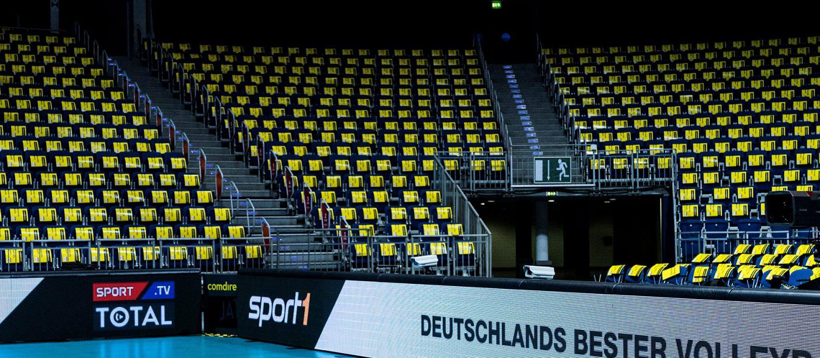 Foto: Leere Ränge in Sporthalle (Fotograf: Sebastian Winter)